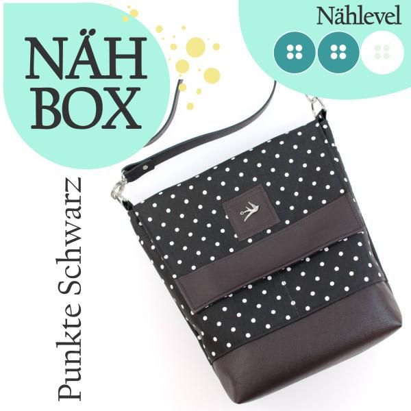 Nähbox 'Amber' - Punkte Schwarz