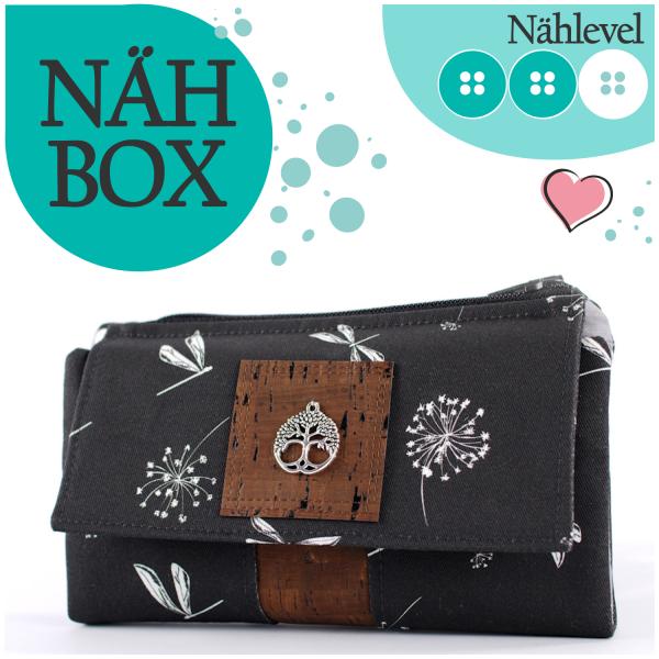 Nähbox 'Smaragd Geldbörse' - Nature anthrazit
