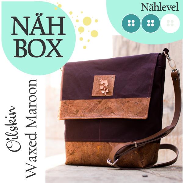 Nähbox 'Amber' - Waxed Maroon