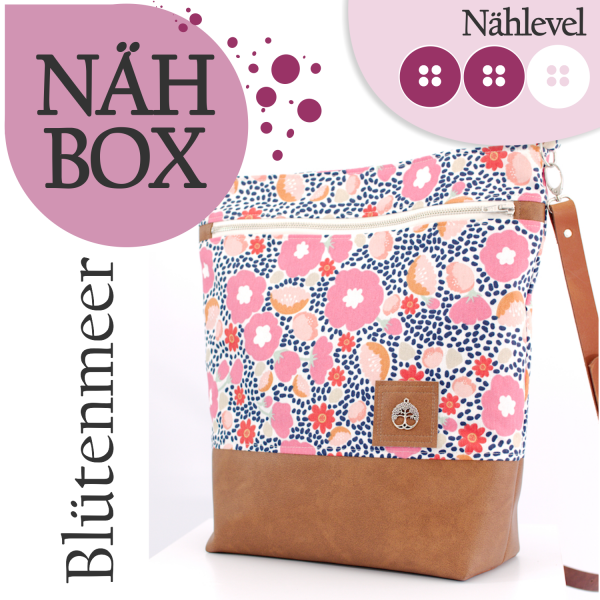 Nähbox Shopper - Blütenmeer