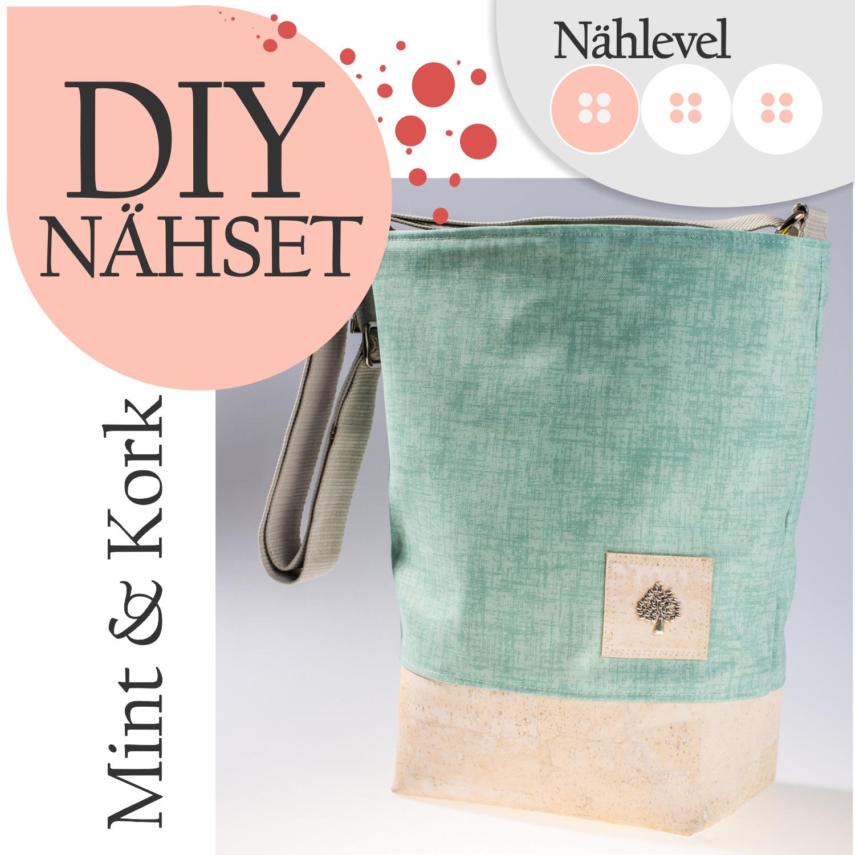 Handtaschen-accessoires Fein Baumwoll Stoff Schultertasche Mint